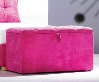 Suzi Buttoned Top Upholstered Ottoman