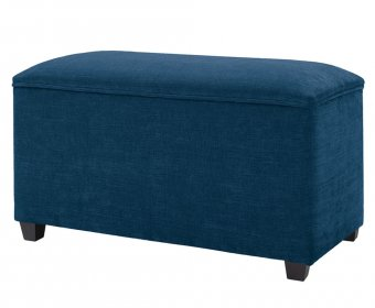 Ardenne Faux Leather and Suede Ottoman