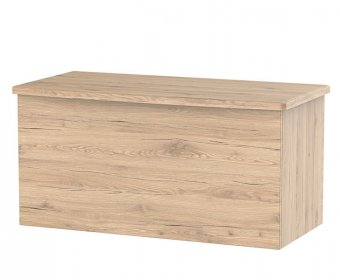 Sherwood Bordeaux Oak Effect Wooden Ottoman