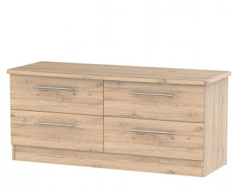 Sherwood Bordeaux Oak Effect Wooden Bed Box