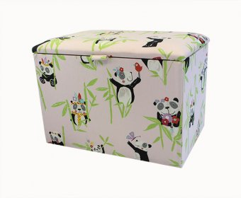 Panda Upholstered Toy Box