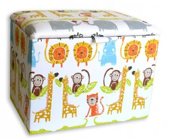 Jungle Upholstered Toy Box