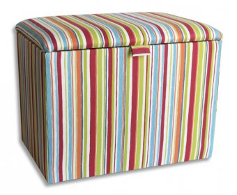 Striped Upholstered Toy Box