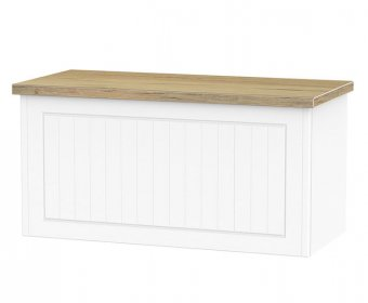 Catalonia Porcelain and Bordeaux Oak Effect Blanket Box